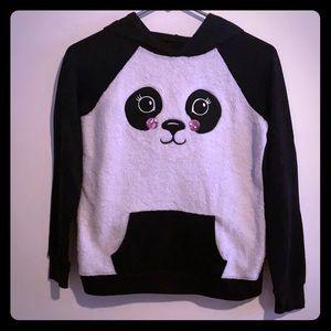 Justice Panda Hoodie Girls Size 12